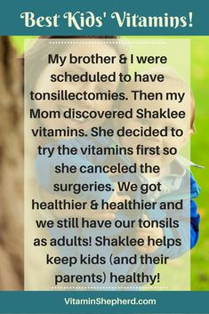 Want super healthy kids? Check out Shaklee's kids' vitamins - Incredivites and DHA for their brain - Mighty Smarts here. https://hagerup.myshaklee.com/us/en/shop/healthyfoundations/kidsnutrition