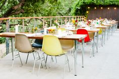 Image via YEAH! rentals | Fiberglass Shell Chairs on Stacking Bases
