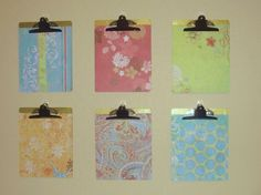 KIDS ART WORK DISPLAY - cover dollar store clipboards with scrap paper!