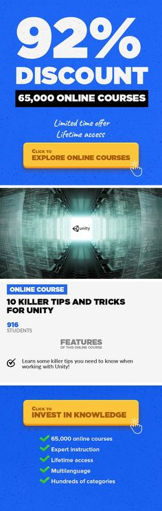 10 Killer Tips and Tricks for Unity Game Development, Development #onlinecourses #onlinedegreeuniversitiesinusa #onlinelessonswebsite  Learn essential tips and tricks you need to know when working with the Unity Game Engine! In this course, Alan Thorn takes us through some great tips and tricks you need to know when working with Unity! We'll look at all sorts of handy features inside this powerful...