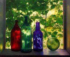 """Scott Prior    """"Bottles in Summer Cabin Window"""""""