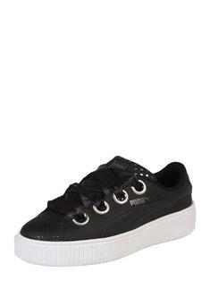 Damen PUMA Sneaker Platform Kiss schwarz weiß   - Kategorie  Damen  SaleSchuheSneakerSneaker LowSneaker Material  Glattleder  Material  Leder   ... 41879670c3