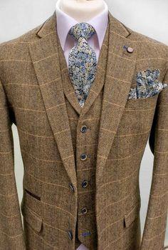 Brown Tweed Three Piece Suit | SIMON PRINCE