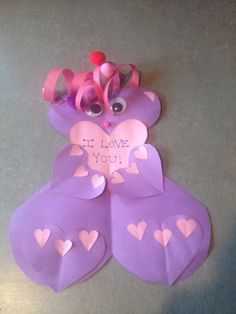 Handmade Valentine made of all Hearts!