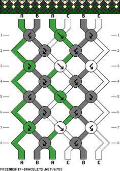 6 strings 8 rows 3 colors