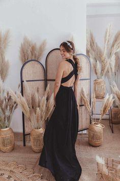 Ball Gown Black — We Are Flowergirls Bridesmaids, Bridesmaid Dresses, Wedding Dresses, Drapery Wedding, Ibiza Wedding, Convertible Dress, Jumpsuit Dress, Slow Fashion, Wedding Season
