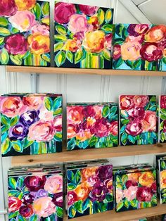 Learn the easy way to paint abstract flowers with acrylic paint on canvas with artist Elle Byers. Easy flower painting tutorials with step by step instructions for beginners. Easy Flower Painting, Acrylic Painting Flowers, Acrylic Painting For Beginners, Beginner Painting, Abstract Flowers, Painting Tutorials, Painting Abstract, Acrylic Paintings, Abstract Portrait
