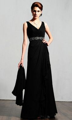 Mother of the Bride Dresses black sleeveless