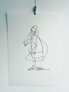 ::: Life drawing / gesture drawing :::  60 sec drawing