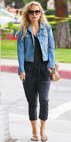 23 Ways to Style a Denim Jacket, Inspired by the Stars - Kate Hudson from #InStyle
