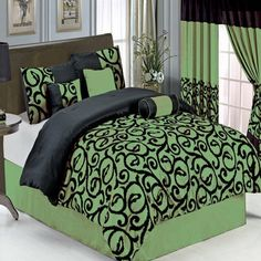 Sheetsnthings 11 PC King Size Candice Sage Bed in a Bag including Comforter set and a Sheet set -- Be sure to check out this awesome product.