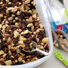 Nutty Berry Trail Mix Recipe - made this 1/12/14 and most of the family loved it. Lots of chocolate in it!