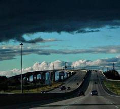 The Zilwaukee Bridge, near Saginaw, Michigan.