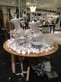 #Harrods #Christmas #London #2014 #displays #paper #reindeer