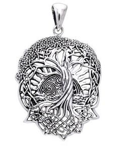 Solstice tree pendant in 925 sterling silver with 18k gold vermeil solstice tree pendant in 925 sterling silver with 18k gold vermeil accents celtic tree of life pagan druid pinterest celtic tree mozeypictures Choice Image
