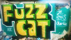 #Fuzzcat #jesuischarlie #streetart #urbanart #graffiti #Brighton #Sussex #paintedcity