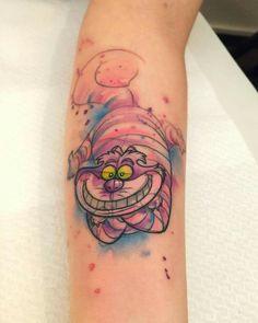 Stregatto watercolor tattoo