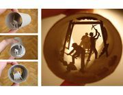 You might think the cardboard tube inside a roll of toilet paper is useless beyond the bathroom, but you'd be wrong. Artist Anastassia Elias creates interesting, diorama-like sc...