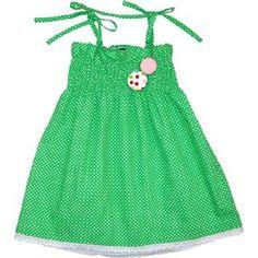 Oobi Baby Retro Green Dress, childrens clothing, girl, cute