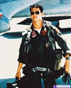 """Tom Cruise, """"Top Gun"""", 1986"""