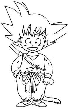 desenhos de colorir online: dragon ball z goku
