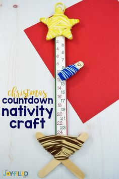 Preschool christmas crafts Christmas Countdown Nativity Craft - My Joy-Filled Life - Food and drink Christmas Countdown Crafts, Preschool Christmas Crafts, Christmas Crafts For Kids To Make, Christmas Activities For Kids, Nativity Crafts, Kids Christmas, Holiday Crafts, Christmas Nativity, Christmas Gifts