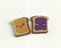 Set of Peanut Butter and Jelly, Patches! Custom Made! F6