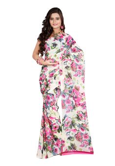 Digital #Dani Georgette Printed #Saree Flaunt your feminine persona wearing this stunning dani georgette saree that embraces eye catchy floral prints designed intricately. The saree really goes flawless for any special gathering as you club it with matching jewels. Available in 12% Discount @aimdeals