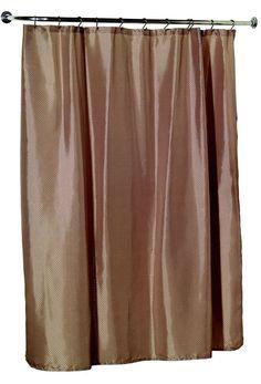 Carnation Home Fashions Lauren Fabric Shower Curtain
