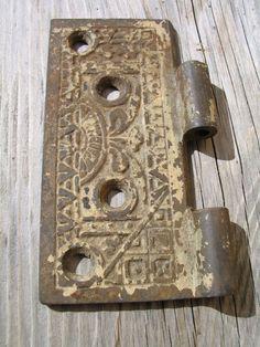 Antique Victorian Ornate Brass Half Door Hinge Edwardian Hardware Altered Art Assemblage Piece restoration hardware by Itzvintagedarling on Etsy