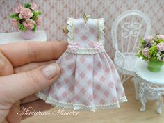 Hey, I found this really awesome Etsy listing at https://www.etsy.com/no-en/listing/267479162/miniature-doll-dress-lace-decorated