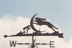Hare and Moon weather vane