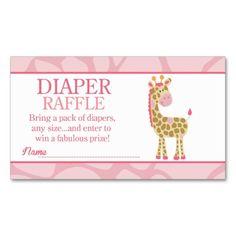 Shop Pink Giraffe Jungle Jill Baby Shower Diaper Raffle Enclosure Card created by allpetscherished. Baby Shower Supplies, Baby Shower Diapers, Baby Shower Games, Baby Showers, Pink Giraffe, Baby Shower Giraffe, Elephant Baby, Diaper Raffle, Girl Shower