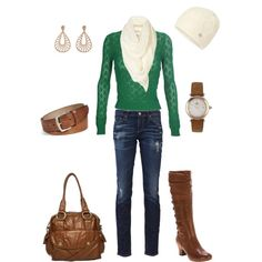 Cute St.Paddy's Day outfit....too bad I can't afford the sweater alone!!
