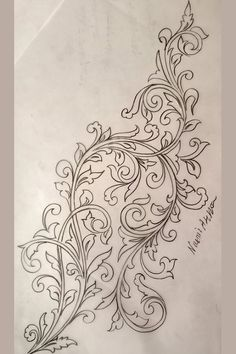 Hand Embroidery Design Patterns, Hand Work Embroidery, Doodle Patterns, Beaded Embroidery, Flower Art Drawing, Wreath Drawing, Leather Working Patterns, Shabby Chic Wallpaper, Islamic Art Pattern