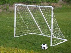 Soccer Goal - I'd go with cheaper netting since my kid is not a professional soccer player. And I probably wouldn't cement it completely together so that I can easily store it during winter. Pvc Pipe Projects, Outdoor Projects, Outdoor Fun, Outdoor Camping, Best Football Goals, Professional Soccer, Kids Soccer, Goal Planning, Home Decor Ideas
