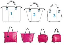 gabs handbag -one bag three ways