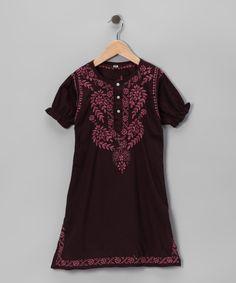 97aa2675ea0 Alejandra Kearl Designs Chocolate Embroidered Dress - Infant