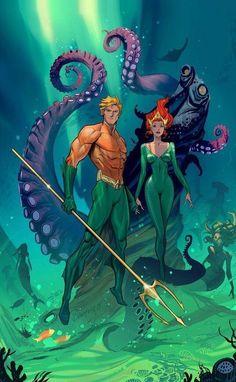 Amazing Aquaman artwork - Visit to grab an amazing super hero shirt now on sale!