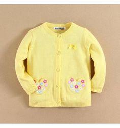 Jual sweater bayi anak Mom and Bab Yellow Flower Series - Flowers Cardigan