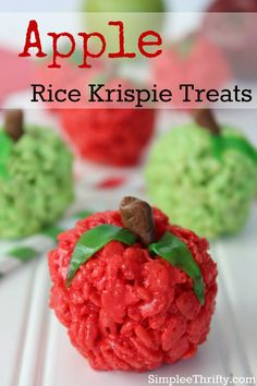 If your a fan of Rice Krispie Treats your going to love this recipe! We have put together a Apple Rice Krispie Treats Recipe for you! This is also very easy and fun so the kids can get in along with you!