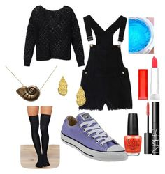 Ursula from Little Mermaid- casual by anna-oliphant-dun on Polyvore featuring polyvore, fashion, style, Victoria's Secret, Converse, Disney, Tiffany Chou, NARS Cosmetics, Maybelline, OPI, women's clothing, women's fashion, women, female, woman, misses, juniors, disney, littlemermaid and ursula