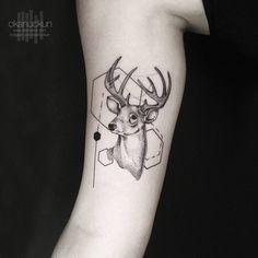bildergebnis f r geometric deer tattoo tattoos pinterest fadenbilder hirsche und tattoo ideen. Black Bedroom Furniture Sets. Home Design Ideas