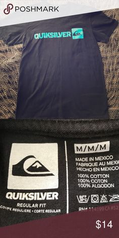 Quicksilver t-shirt Black Quicksilver t-shirt, size medium. Very good condition Quiksilver Tops Tees - Short Sleeve