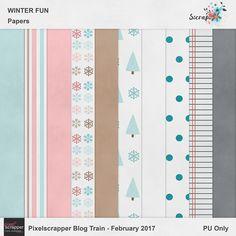 "FREE SScraps: New Blog Train Freebie: ""Winter Fun"""