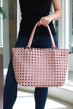 Cutout Squares with Studs Purse