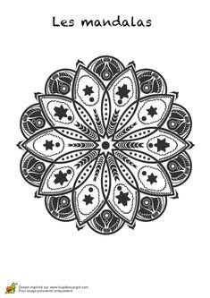 25 best ideas about coloriage fleur on pinterest hugolescargot mandala - Hugolescargot mandala ...