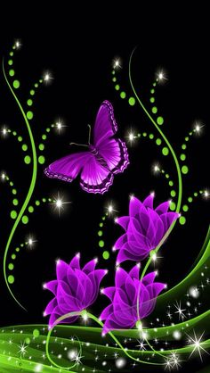 Purple butterfly's