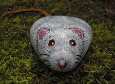 Mouse \/ Rat \/ Socrates (1) hand painted rock \/ paperweight