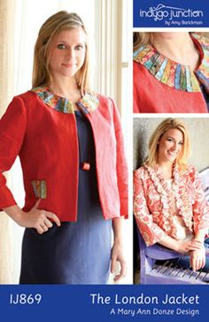 Indygo Junction's Sophia Swing Coat pattern features raglan ...